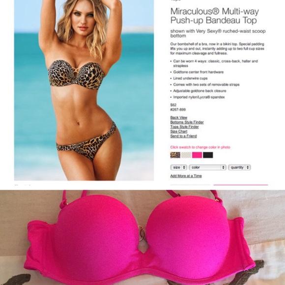 b1b9df26df65dc Pink Victoria Secret Miraculous Multi Way Bikini. M 5abec5362ab8c5c691b431ba